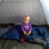 Clara in tent