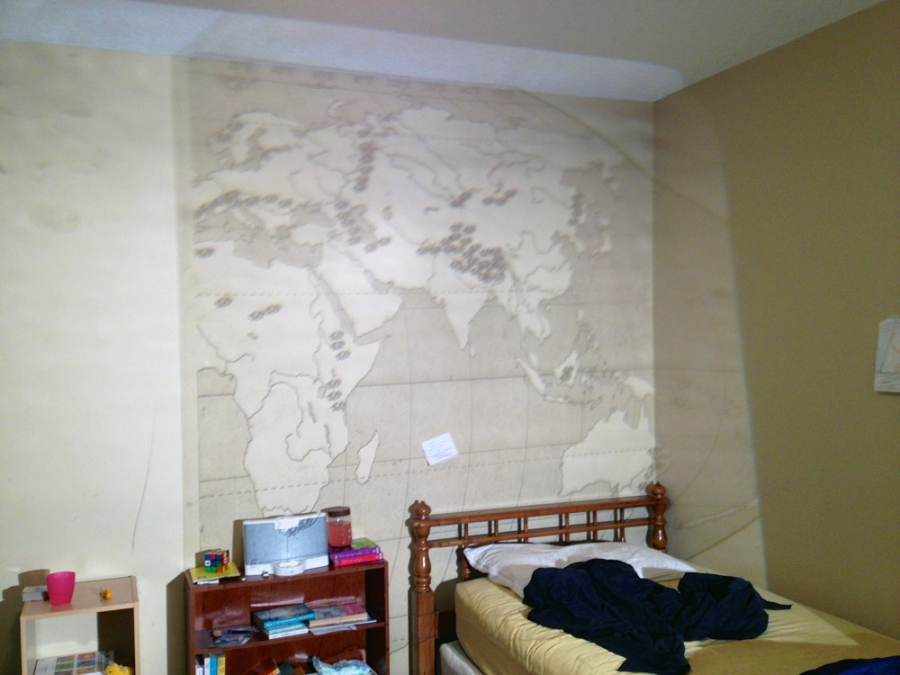 A map of the world walk a little differently for Best projector for mural painting